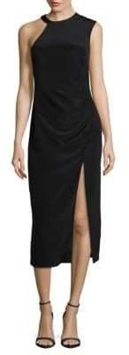 Nicole Miller One Shoulder Sleeveless Dress