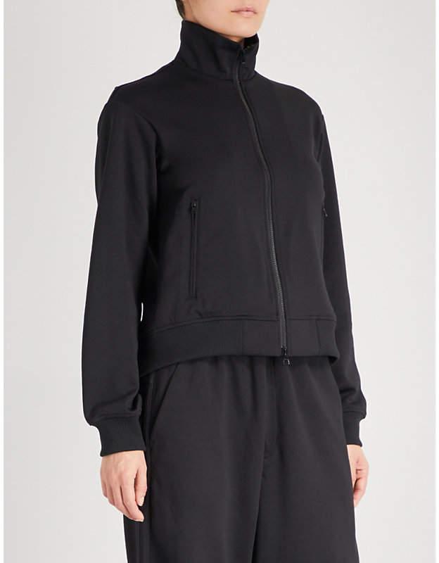 Y3 Open-back jersey jacket