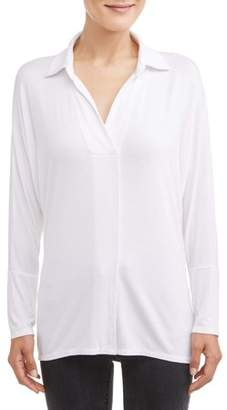 Time and Tru Women's Soft Knit Popover Top