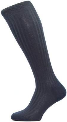 Pantherella Mens Laburnum Rib Over the Calf Merino Wool Socks - Small