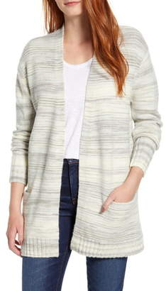 Caslon Space Dye Open Front Cardigan