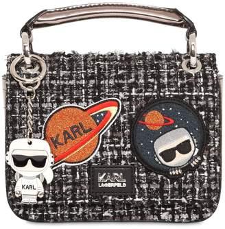 Karl Lagerfeld Space Tweed Shoulder Bag