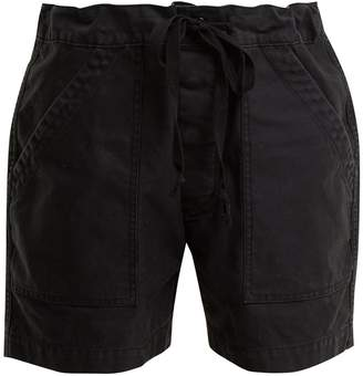 Chimala Tie-waist patch-pocket cotton-twill shorts