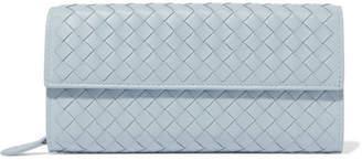 Bottega Veneta Intrecciato Leather Continental Wallet - Light blue