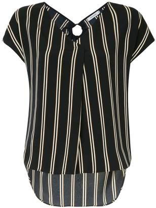 GUILD PRIME striped V-neck T-shirt