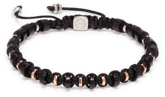 Tateossian Wooden disc bead macramé braided bracelet
