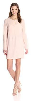 BCBGeneration Women's Long Sleeve Pleated Dress