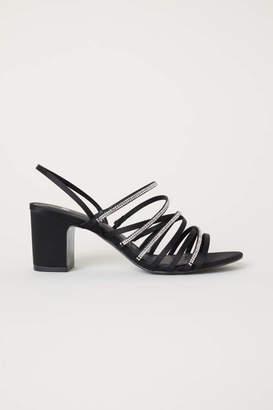H&M Rhinestone Sandals - Black - Women