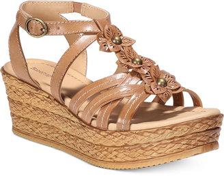 Bare Traps Fuchsia Espadrille Platform Sandals $69 thestylecure.com