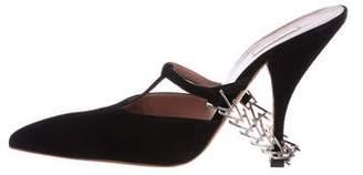 Alaia Suede Slide Sandals