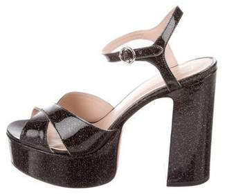 Marc Jacobs Glitter Crossover Sandals