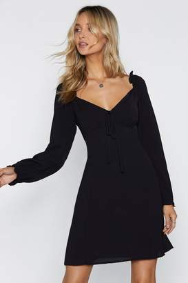 Nasty Gal Straight From the Shoulder Fit & Flare Dress