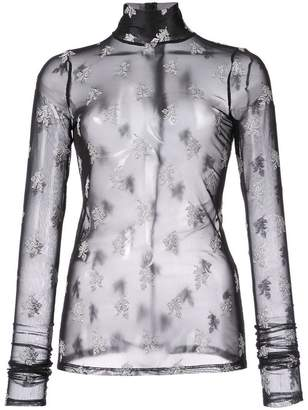 Cinq à Sept floral embroidered sheer top