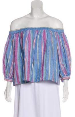 Frame Off-The-Shoulder Linen Top w/ Tags