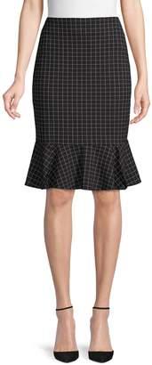 Calvin Klein Collection Grid-Print Ponte Skirt