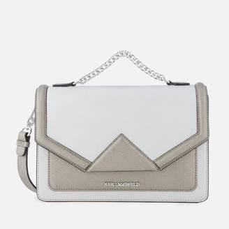 Karl Lagerfeld Women's K/Klassik Shoulder Bag - Silver
