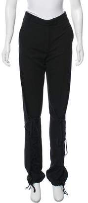 Ann Demeulemeester Lace-Up Wide-Leg Pants w/ Tags