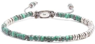 M. Cohen Beaded malachite and sterling-silver bracelet