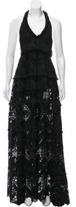Alexis Patterned Halter Dress