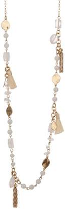 Melrose and Market Bead & Tassel Long Necklace