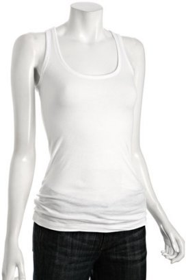 Zooey Yoga white organic cotton tank