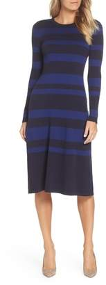 Eliza J Stripe Midi Dress