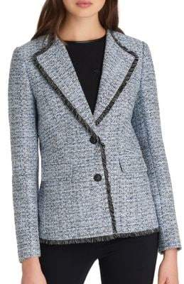Notched Tweed Jacket