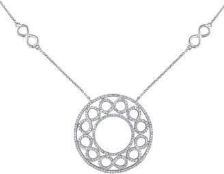 Affinity Diamond Jewelry Affinity 14K 1.00 cttw Circle & Infinity Station Necklace