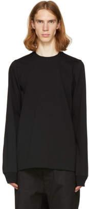 Rick Owens Black Short Crewneck Sweatshirt