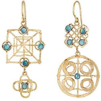 Judy Geib Women's Wheel Double-Drop Earrings - Gold