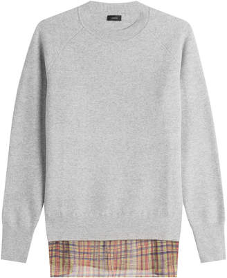 Joseph Wool Pullover with Printed Silk