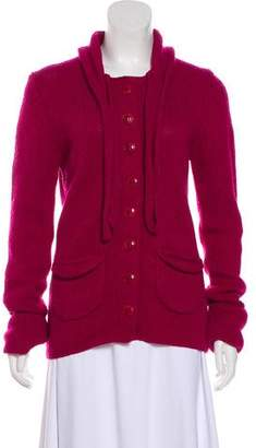 Trina Turk Wool Button-Up Cardigan