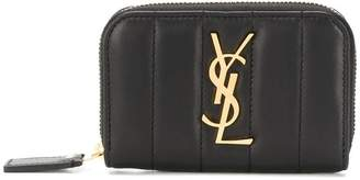 Saint Laurent all around zip logo wallet