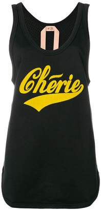 No.21 Chérie perforated tank top