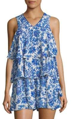Tiered Floral Romper