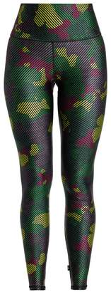 Terez Green Camo High-Rise Leggings