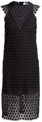 Paco Rabanne Floral Crochet Dress - Womens - Black