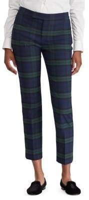 Lauren Ralph Lauren Tartan Striped Skinny Pants