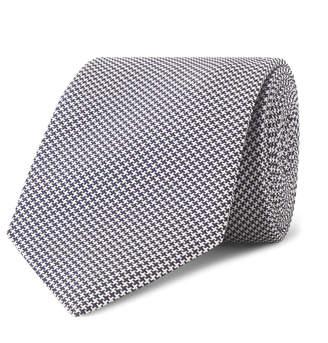 Kingsman + Drake's 8cm Puppytooth Silk Tie