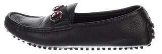 Gucci 500 Web Horsebit Driving Loafers