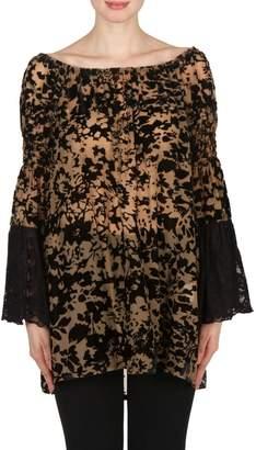 Joseph Ribkoff Burnout Lace Tunic