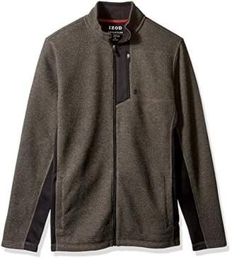 Izod Men's Big and Tall Shaker Fleece Jacket