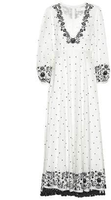 Zimmermann Polka-dot linen maxi dress