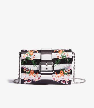 Karen Millen Striped Floral Clutch