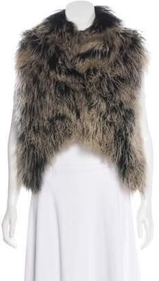 Alice + Olivia Mongolian Lamb Vest