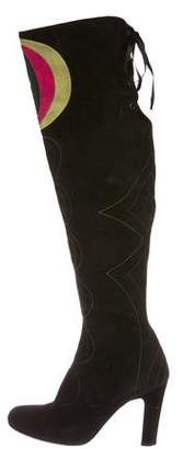 Emilio Pucci Suede Over-The-Knee Boots