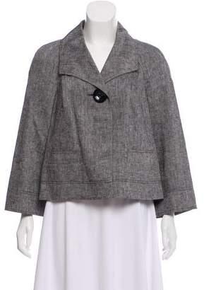 Ellen Tracy Collared Linen Jacket