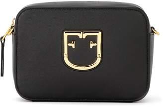 Furla Belvedere M Hobo Shoulder Bag In Black Leather