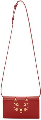 Charlotte Olympia Red Feline Shoulder Bag