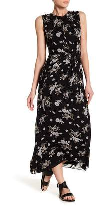 Vince Tossed Floral Draped Side Maxi Dress